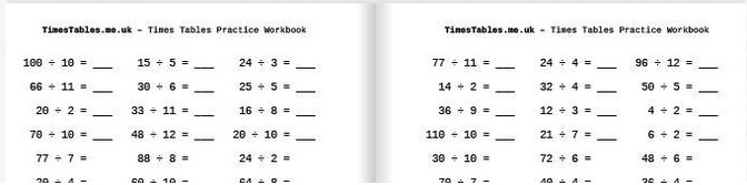 Division Times Tables Practice Workbook - available now from TimesTables.me.uk